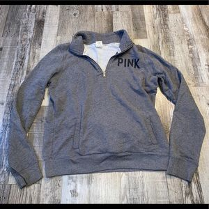 Victoria's Secret pink quarter zip sweatshirt